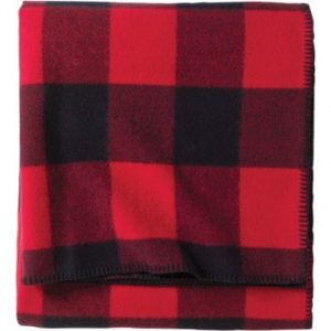 Pendleton Lumberman Washable Wool Blanket - Red/Black - Queen