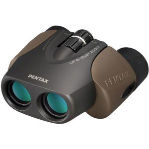 Pentax 8-16x21 UP Series Weather Resistant Porro Prism Binocular with 5-3 Degree Angle of View, Mult