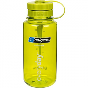 Nalgene Wide Mouth 32oz Water Bottle With Pillid - Green / Green