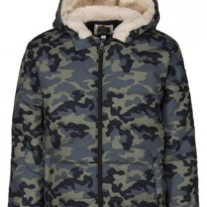 Outdoor Kids Puffer Jacket for Toddlers or Boys - Camo - 2T