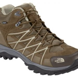 The North Face Storm III WP Mid Waterproof Hiking Boots for Men - Weimaraner Brown/Shroom Brown - 9M