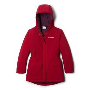 Columbia Girls' Outdoor Bound Stretch Jacket - Small - Pomegranate