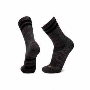 Le Bent Men's Le Socks Trail Light 3/4 Crew Hiking Socks | Size X-Large | Black Marle | Campman