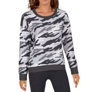Natural Reflections Brushed Thermal Long-Sleeve Lounge Shirt for Ladies - Grey Camo - M
