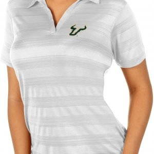 Antigua Women's South Florida Bulls White Compass Polo, XXL