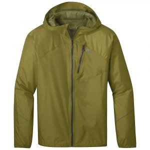 Outdoor Research Men's Helium Rain Jacket - Small - Loden