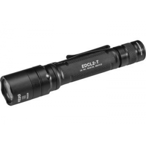 SureFire Every Day Carry Tactical LED Flashlight, CR123A, White, 5-1200 Lumens, Black