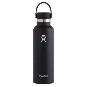 Hydro Flask Standard Mouth Insulated Water Bottle with Flex Cap - 21 oz - Black - 21oz