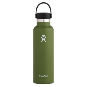 Hydro Flask Standard Mouth Insulated Water Bottle with Flex Cap - 21 oz - Olive - 21oz