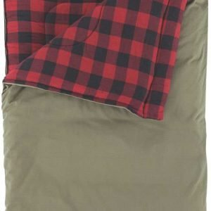Coleman Big & Tall Big Game 0° Sleeping Bag with Pillow, Oversized, Red