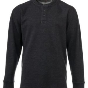 RedHead Thermal Henley Long-Sleeve Shirt for Men - Charcoal - S