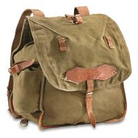Romanian Military Surplus Heavyweight Canvas Rucksack, Used