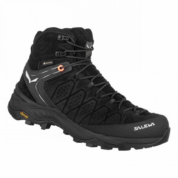 Salewa Women's Alp Trainer 2 Mid GTX Hiking Boot | Size 10 | Black/Black | Waterproof | Campman