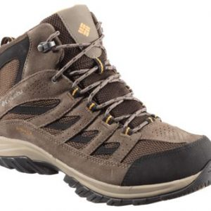 Columbia Crestwood Mid Waterproof Hiking Boots for Men - Cordovan/Squash - 14W