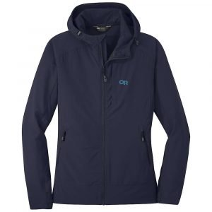 Outdoor Research Women's Ferrosi Hooded Jacket - Large - Naval Blue