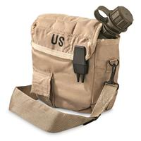 U.S. Military Surplus 2 Quart Canteen with Cover, New