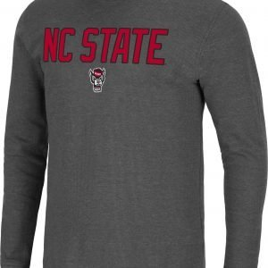 Colosseum Men's NC State Wolfpack Grey Dragon Long Sleeve Thermal T-Shirt