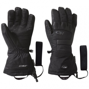 Outdoor Research Lucent Heated Sensor Gloves, Black, Extra Large