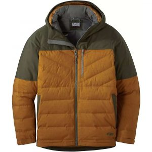 Outdoor Research Men's Blacktail Down Jacket - Medium - Saddle / Forest