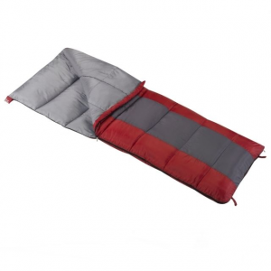 Wenzel Lakeside 40-Degree Sleeping Bag, Red/Gray, 78 in X 33 in